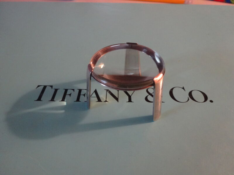 Very rare Tiffany & Co sterling silver magnifier on stand from 1966 vintage 925