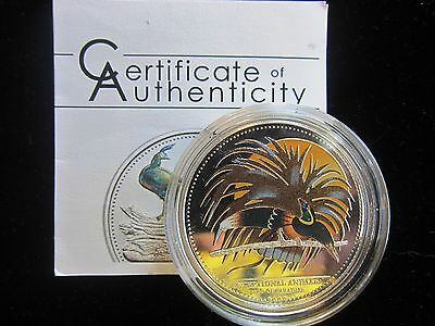 "Beautiful Palau Coin Bird of Paradise ""SILVER PROOF"" w/COA Low Mintage of 2,500"