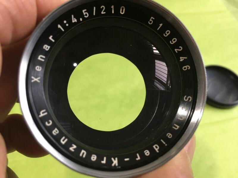 Vintage Schneider Kreuznach Xenar Lens 1:4,5 / 210 - GERMANY