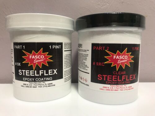 FASCO STEELFLEX CLEAR EPOXY COATING 1 Qt kit p/n 9XC