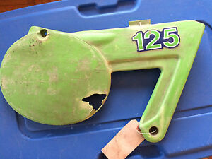 1980 1981 Kawasaki KX Right Sidecover Number Plate
