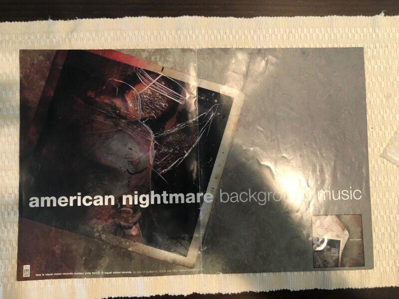 American Nightmare Backround Music Promo Poster 2001 Rare Instore