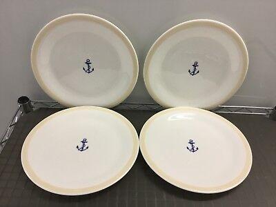 "Marine Blue Dinner - NEW Set of 4 PROUNA Jewelry China Marine Blue 10-7/8"" round Dinner Plate Plates"