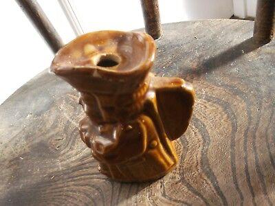 Vintage Salt Glazed Toby Jug Mead Flask