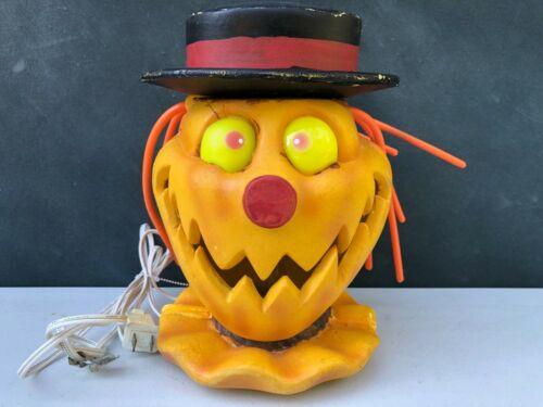 Rare Vintage Trendmasters Halloween Jack-O-Lantern Light Up Blow Mold Scarecrow