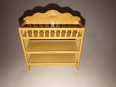 VINTAGE NURSERY CHANGING TABLE DOLLHOUSE FURNITURE MINIATURES - Made in Taiwan