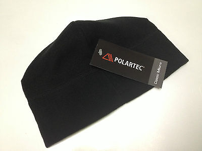 Unisex Black Military Polartec Micro Fleece Cap Polartec Hat