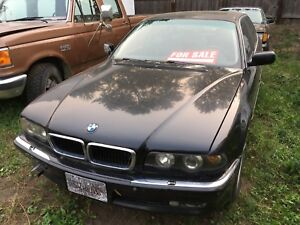 1995 BMW 740iAL whole parts car. Not running.