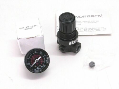 New! NORGREN 300 PSI PRESSURE REGULATOR w/ 160 PSI GAUGE