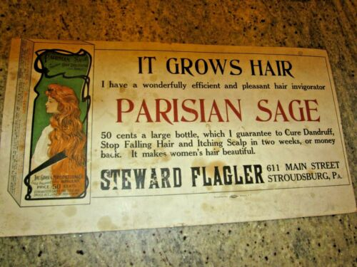 antique trolley advertising poster sign insert Stroudsburg, pa. Lot #2
