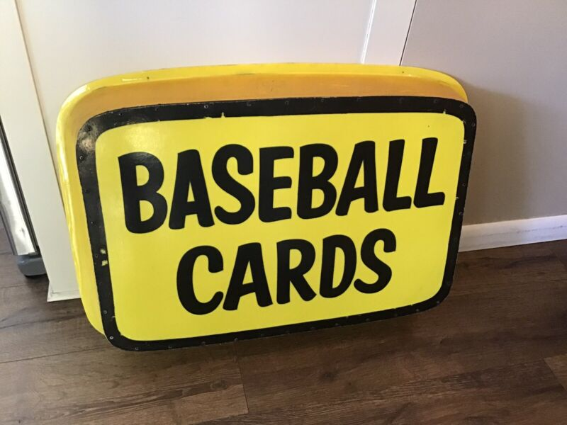 Vintage Baseball Cards Cover For Lighted Dealer Store Sign 1970s 1980s Sports