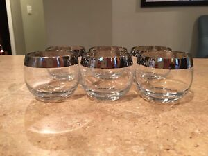 Vintage Mad Men Roly Poly Glasses Set of 6