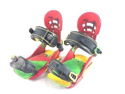 Union Contact Snowboard Bindings Rasta XL Red Yellow Green, snow board pro sport