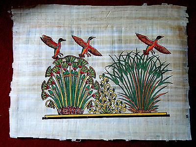 Ägypten  Papyrus-Bild 30 x 42 - Wildgänse am Nil