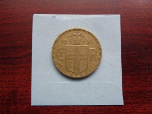 1929 Iceland 2 Kronur coin