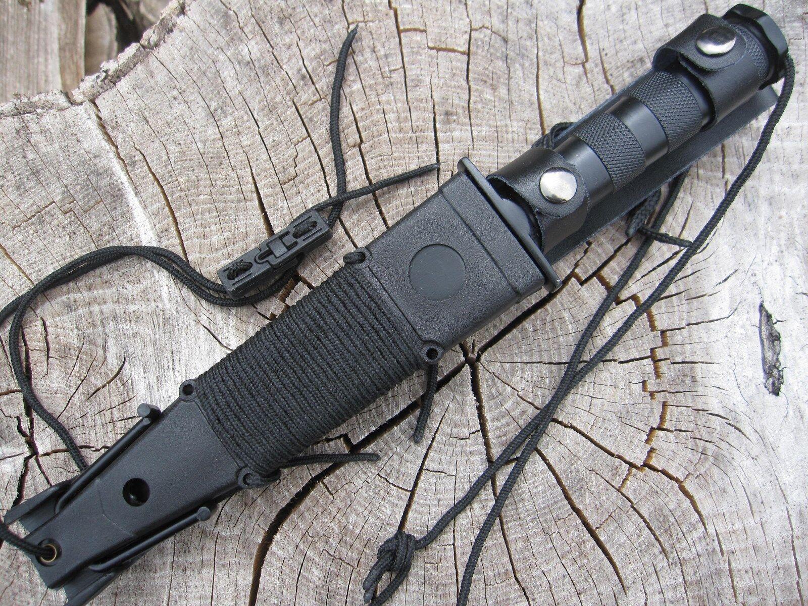 15teilig Outdoor Set Survival Gürtelmesser Jagd Messer Säge Kompass usw. Mi1
