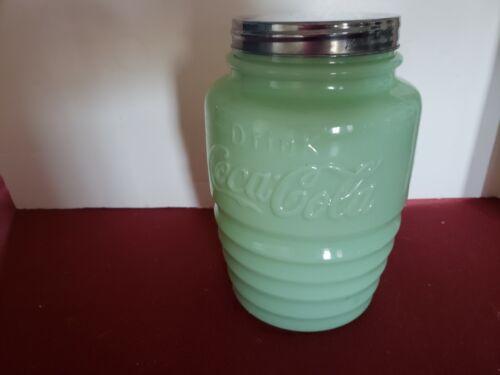 Coca Cola Jadeite Cookie Jar - RARE