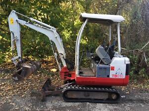 Takeuchi TB016 Mini Digger, Yr 2012, QH, 3 Buckets, New Rubber Tracks, Low Hours