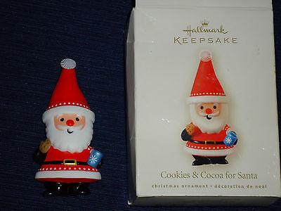 2008 Hallmark Christmas Ornament COOKIES & COCOA FOR SANTA w/Box  (Boxes For Christmas Cookies)