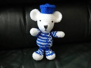 Soft Toy Crochet Knit Stuffed Amigurumy Blue Bear Dandenong Greater Dandenong Preview