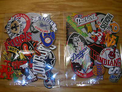 """Lot of 20 Embroidered Patches Selection - """"Wholesale Price to the Public""""."""