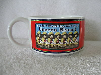 National Biscuit Company UNEEDA Biscuit Soup Bowl Cup Nabisco