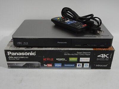 Panasonic DMP-BDT270 Smart Network 4K Upscaling Wi-Fi & 3D Blu-ray Disc Player