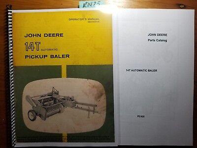 John Deere 14t Automatic Pickup Baler Owner Operators Manual 1261 Parts 564