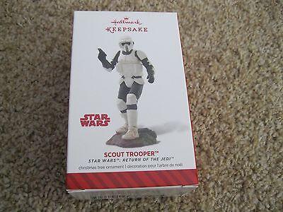 2014 Hallmark Ornament    Scout Trooper   Star Wars   Return Of The Jedi   New