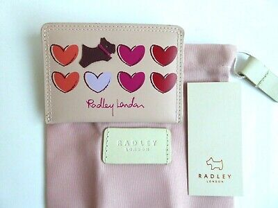 Radley Love Me Always Leather Credit card Holder BNWT With Dust Bag
