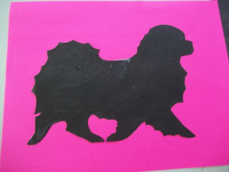 Gaiting Tibetan Spaniel Car Magnet Hand Cut and Painted U pick style color