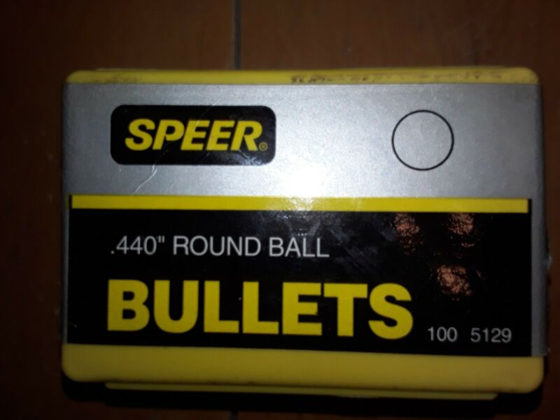 """speer 0.440"""" round ball lead bullets, 100 count per box"""