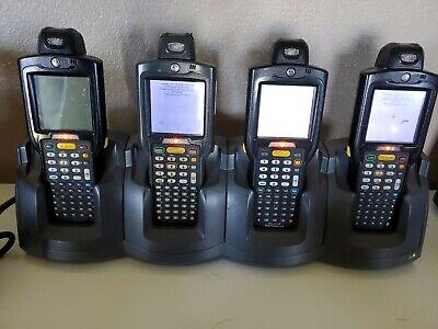 4 Motorola Symbol Mc3190 Barcode Scanner Wi-fi Charging Cradle Xtra Batteries