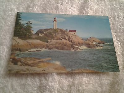 Vintage postcard, POINT ATKINSON LIGHTHOUSE, WEST VANCOUVER, CANADA