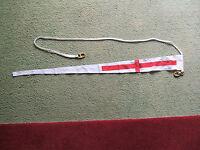 Saint George Masthead Pennant Stitched Linen 7.75 X 91cm. Inglefield Clips -  - ebay.co.uk
