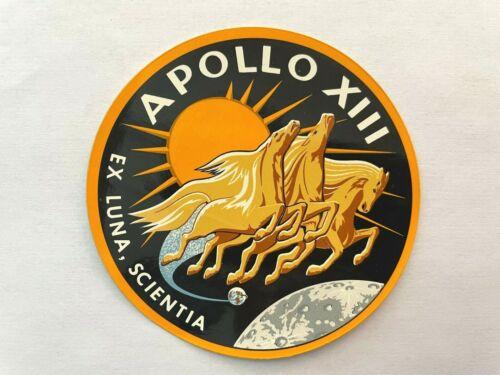 1970 Official NASA Manned Flight Awareness APOLLO 13 Vitachrome Green Sticker