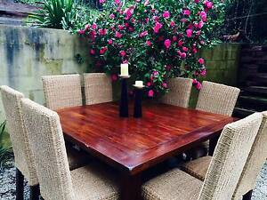 Beautiful polished hardwood 8 seater indoor dining suite. Worth $2800. Bridgewater Adelaide Hills Preview