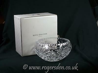 Royal Douton Crystal  Bowl In The Newbury Design RRP £70 Bowl In Crystal