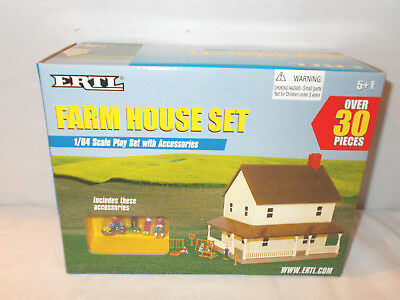 30-Helping Two Story Farm House Set By Ertl 1/64th Scale