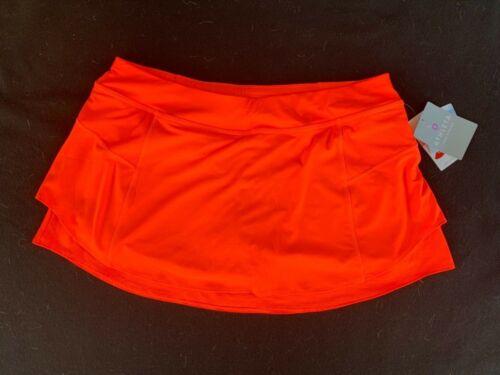 "Athleta vermilion orange tiered knit ""Swagger"" Skort-XL-NWT"