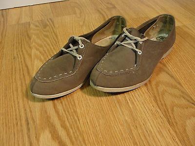 Vintage Brunswick Womens Bowling Shoes 1960's 70's gray leather stitch toe sz 6