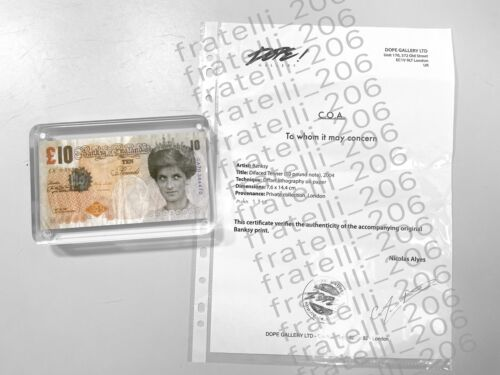 BANKSY - Authentic Di-Faced Tenner - COA + Receipt from Dope! Gallery POW LAZ