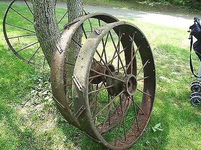 REDUCED PRICE !!! Steel Wheel Antique Farm Equipment Wheel