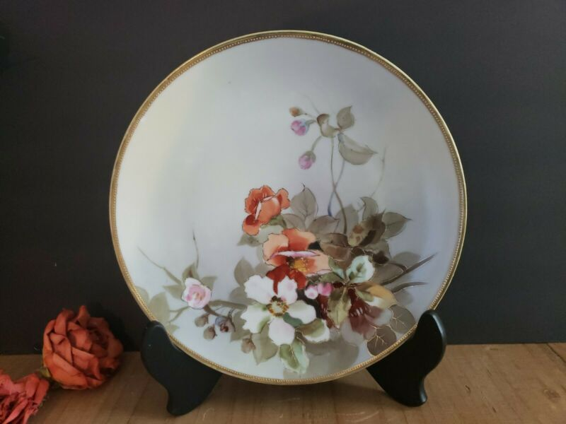 Nippon Hand-Painted Decorative Floral Plate