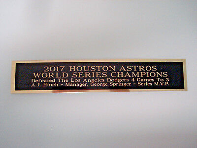 Houston Astros 2017 World Series Nameplate For A Signed Baseball Bat Case 1.5x8