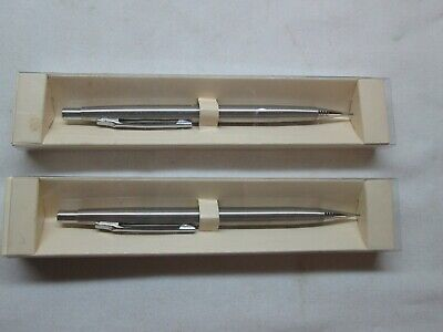 (2) Pair Chrome Drafting Mechanical Fine Point Pencils  .Japan NEW OLD STOCK Mechanical Drafting Pencils