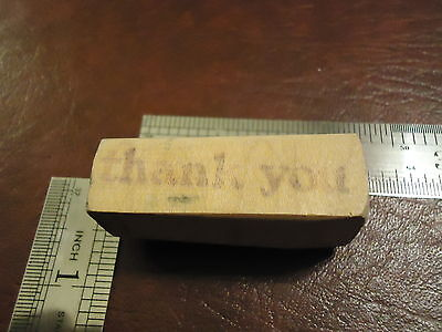 (THANK YOU!  SIMPLE BOLD FONT RUBBER STAMP QUOTES SAYINGS APPRECIATION GRATITUDE)