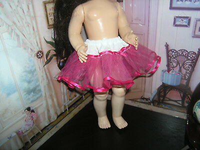 "Hot Pink Net Petticoat  22-23"" Doll clothes fits Ideal Saucy Walker or Pedigree"