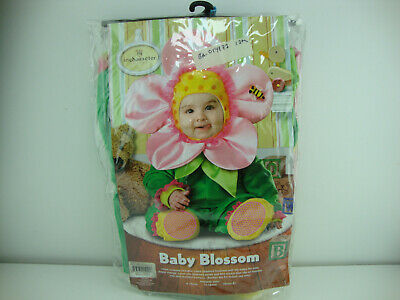 InCharacter Baby Blossom Flower Halloween Costume Sz Sm Cute Pink Green Flower