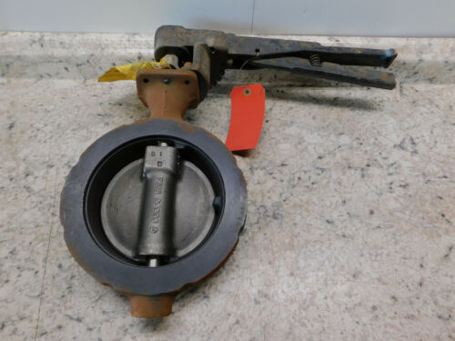 """NEW 6"""" Crane Flowseal Butterfly Valve 150#, WCB/A105 Body, CF8M/316 SS Disc"""